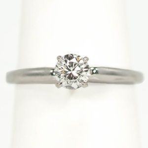 Vintage 1960's Diamond Solitaire Engagement Ring